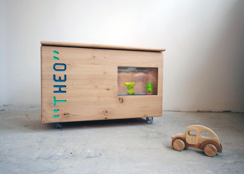 La Forêt d'Alicia - Coffre à jouets Bois Chataigner